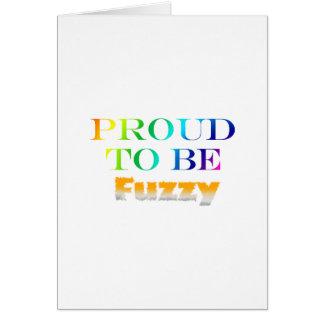 Orgulloso ser borroso tarjeta de felicitación