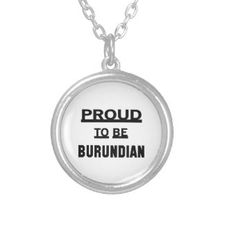 Orgulloso ser burundés colgante redondo
