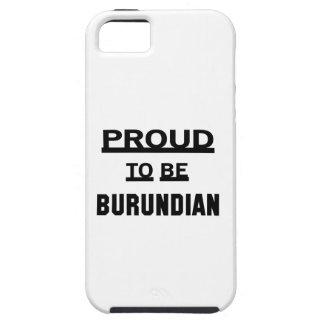 Orgulloso ser burundés funda para iPhone SE/5/5s
