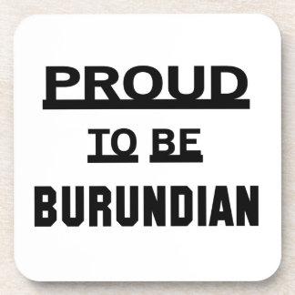 Orgulloso ser burundés posavasos