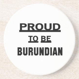 Orgulloso ser burundés posavasos cerveza