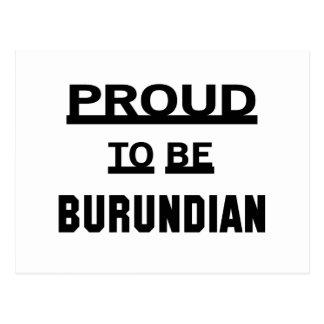 Orgulloso ser burundés tarjetas postales