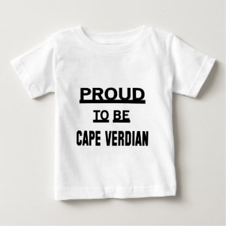 Orgulloso ser cabo Verdian. Playera