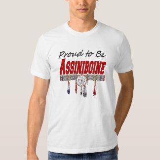 Orgulloso ser camiseta cabida Assiniboine Playeras