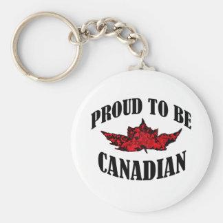 Orgulloso ser canadiense llavero redondo tipo pin