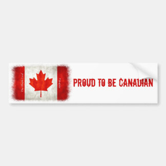 Orgulloso ser canadiense - pegatina para el parach etiqueta de parachoque