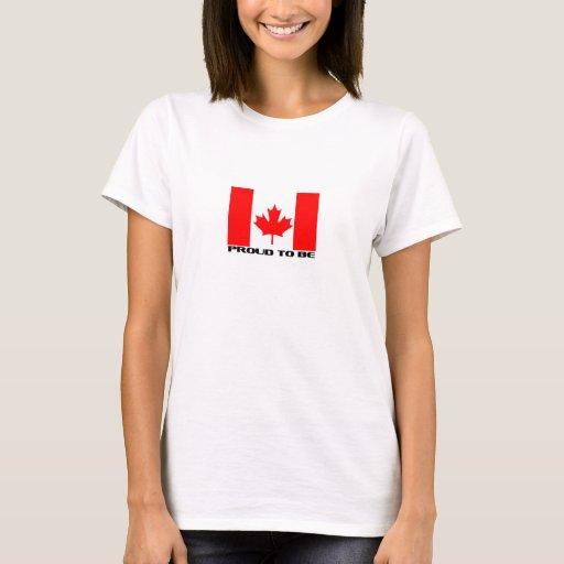 Orgulloso ser canadiense playera
