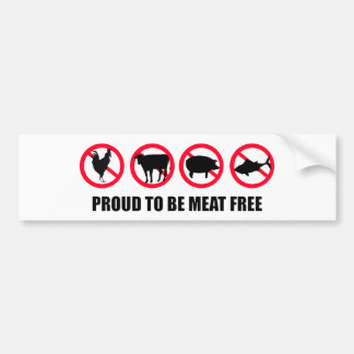 Orgulloso ser carne libere pegatina para auto