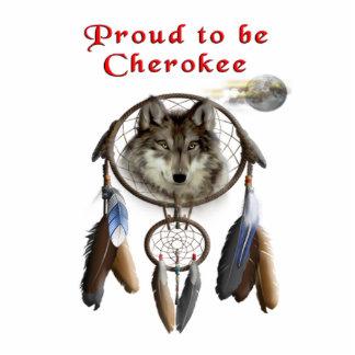 orgulloso ser cherokee llavero fotográfico