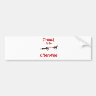 Orgulloso ser cherokee pegatina para auto