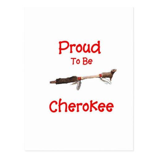 Orgulloso ser cherokee postal