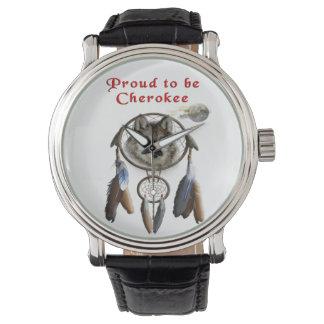 orgulloso ser cherokee relojes de pulsera