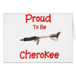Orgulloso ser cherokee tarjeta