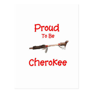 Orgulloso ser cherokee tarjetas postales