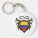 Orgulloso ser colombiano llaveros personalizados