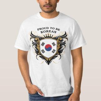 Orgulloso ser coreano camisas