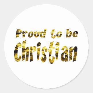 Orgulloso ser cristiano O Etiquetas Redondas