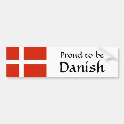 ¡Orgulloso ser danés! Pegatina De Parachoque