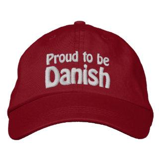 Orgulloso ser danés gorra de beisbol