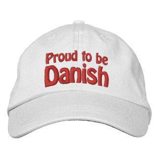 Orgulloso ser danés gorra de béisbol bordada