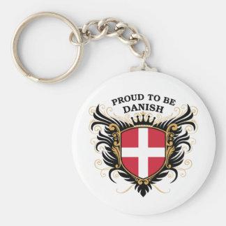 Orgulloso ser danés llavero redondo tipo pin