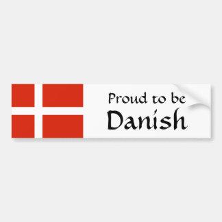 ¡Orgulloso ser danés! Pegatina Para Auto