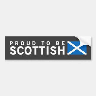 Orgulloso ser diseño del escocés pegatina para auto