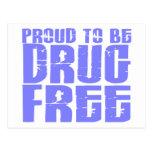 Orgulloso ser droga libere 2 azules claros postal
