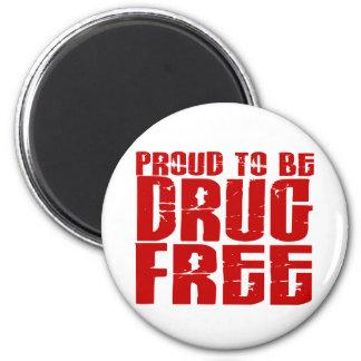Orgulloso ser droga libere 2 imán redondo 5 cm