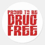 Orgulloso ser droga libere 2 pegatinas