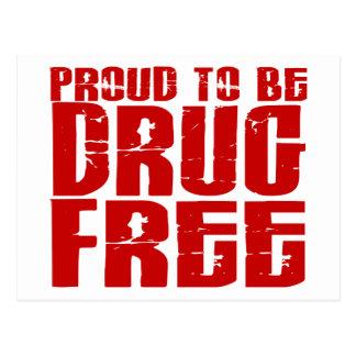 Orgulloso ser droga libere 2 tarjeta postal