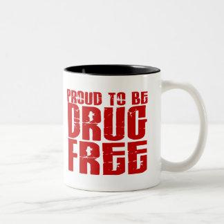 Orgulloso ser droga libere 2 tazas de café