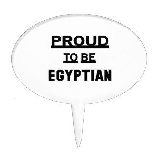 Orgulloso ser egipcio figuras para tartas