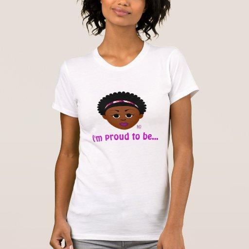 Orgulloso ser el tanque Delantero-n-Detrás natural Camiseta