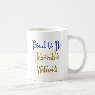 Orgulloso ser el testigo de Jehová Taza Básica Blanca