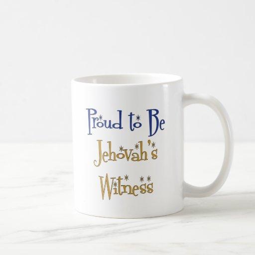 Orgulloso ser el testigo de Jehová Tazas