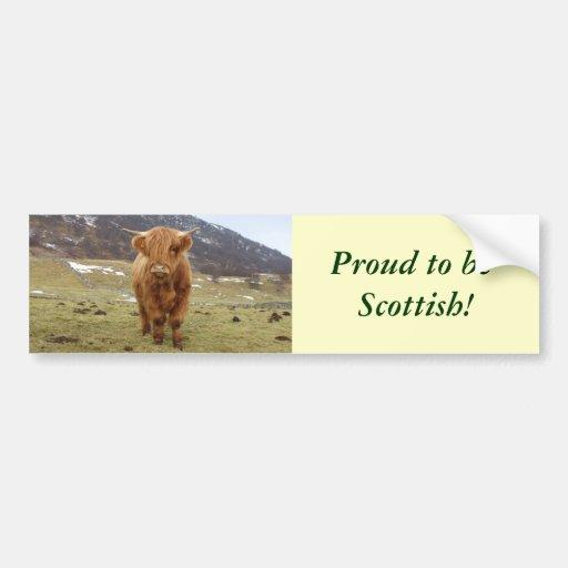 ¡Orgulloso ser escocés! Etiqueta De Parachoque