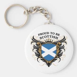 Orgulloso ser escocés llavero redondo tipo pin