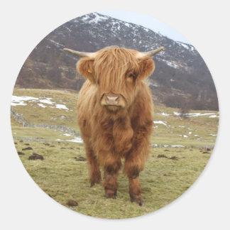 ¡Orgulloso ser escocés! Pegatina Redonda