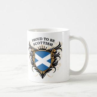 Orgulloso ser escocés taza básica blanca