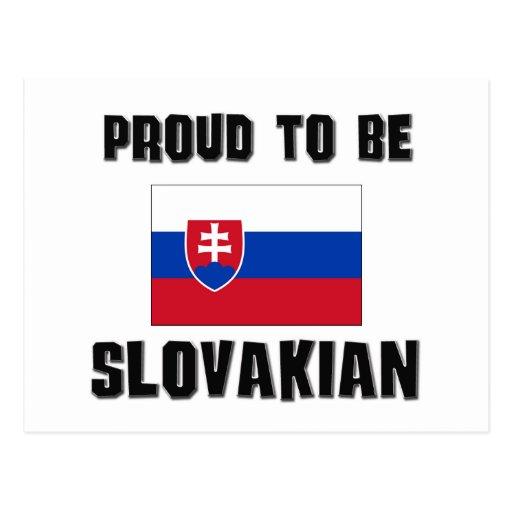 Orgulloso ser ESLOVACO Postal