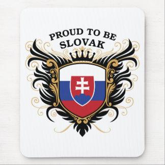 Orgulloso ser eslovaco alfombrilla de ratón