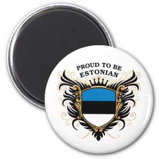 Orgulloso ser estonio imán redondo 5 cm