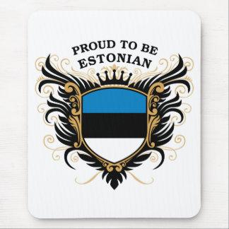 Orgulloso ser estonio alfombrilla de ratón