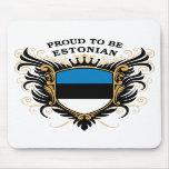 Orgulloso ser estonio tapetes de raton