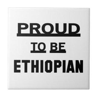 Orgulloso ser etíope azulejo cuadrado pequeño