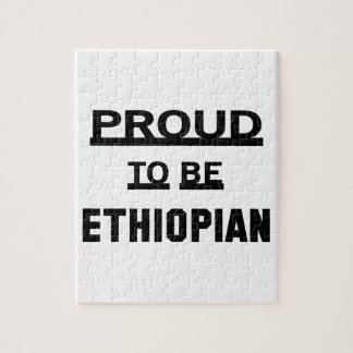 Orgulloso ser etíope puzzle