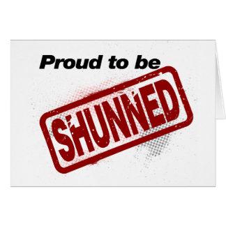 Orgulloso ser evitado tarjeta de felicitación