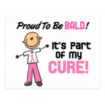Orgulloso ser figura calva del palillo del cáncer  tarjetas postales