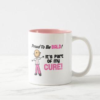 Orgulloso ser figura calva del palillo del cáncer  tazas